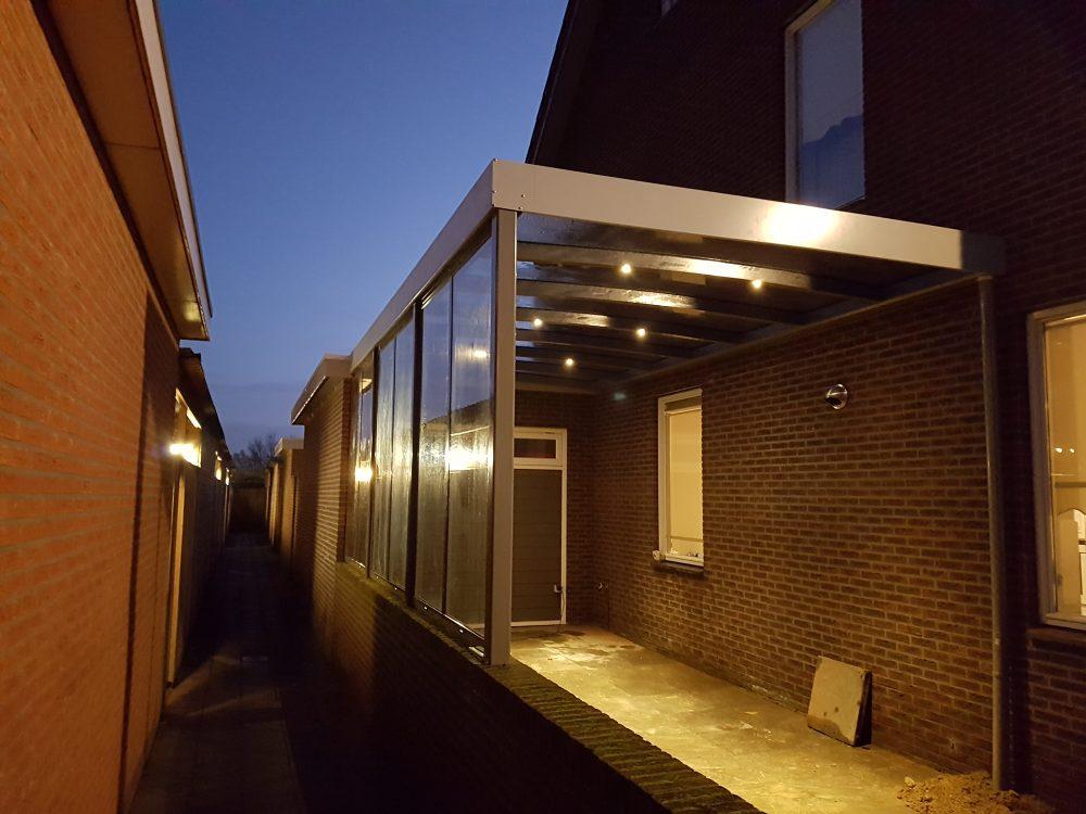 skinle carport met zeer licht gebogen dak type p