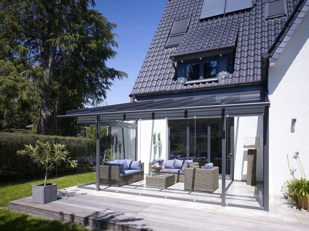 overkapping atrium van solarlux. Black Bedroom Furniture Sets. Home Design Ideas