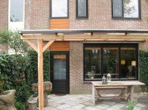 Pext houten veranda Lariks 2UV vrijstaand, model Trend