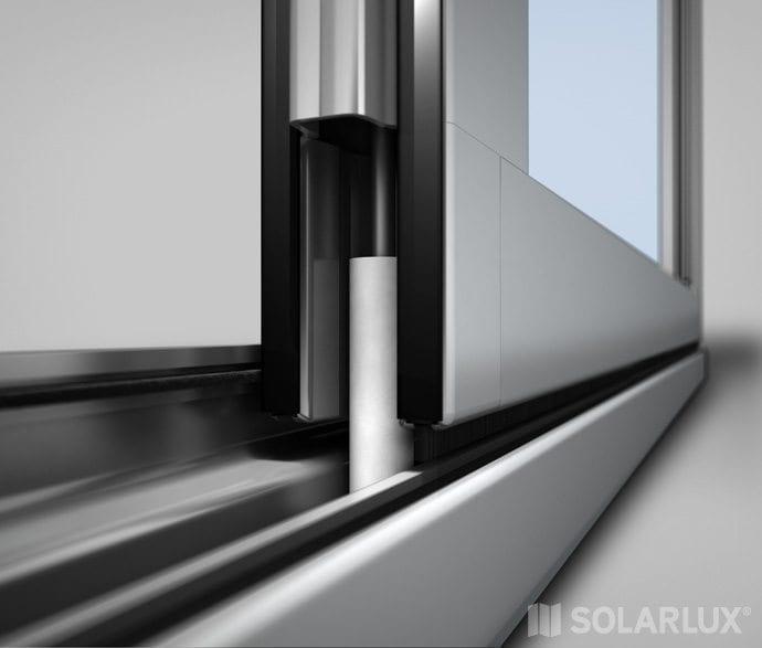 Solarlux aluminium vouwwand SL35 niet geïsoleerd