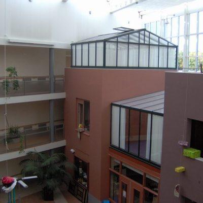 Glazen kantoorruimte