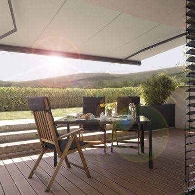 Terrasschermen als zonwering