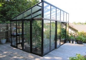 Vrijstaande serre - tuinkamper type Modern