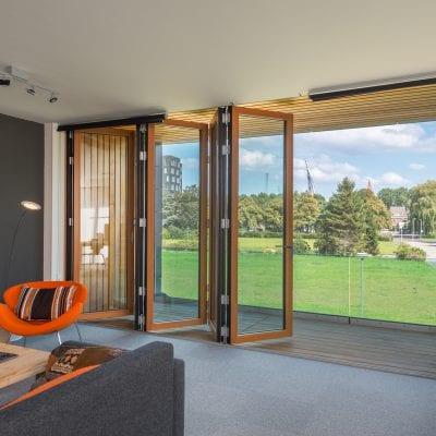 Solarlux vouwwand als balkonbeglazing